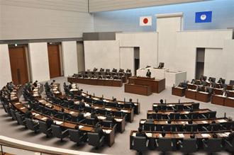 茨城県議会場